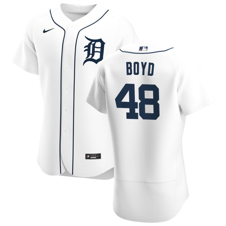 Cheap Detroit Tigers 48 Matthew Boyd Men Nike White Home 2020 Authentic Player MLB Jersey