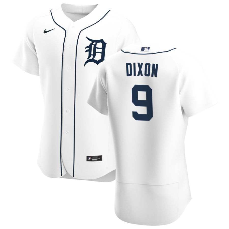 Cheap Detroit Tigers 9 Brandon Dixon Men Nike White Home 2020 Authentic Player MLB Jersey