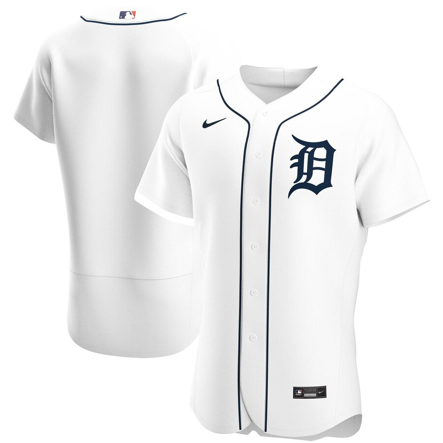 Cheap Detroit Tigers Men Nike White Home 2020 Authentic Official Team MLB Jersey