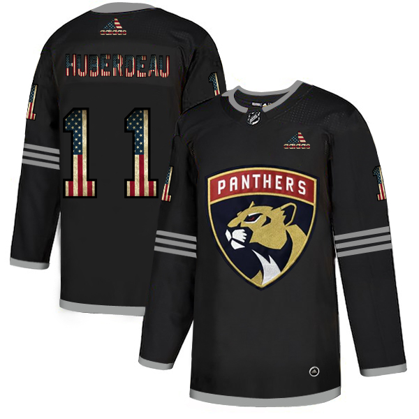 Cheap Florida Panthers 11 Jonathan Huberdeau Adidas Men Black USA Flag Limited NHL Jersey