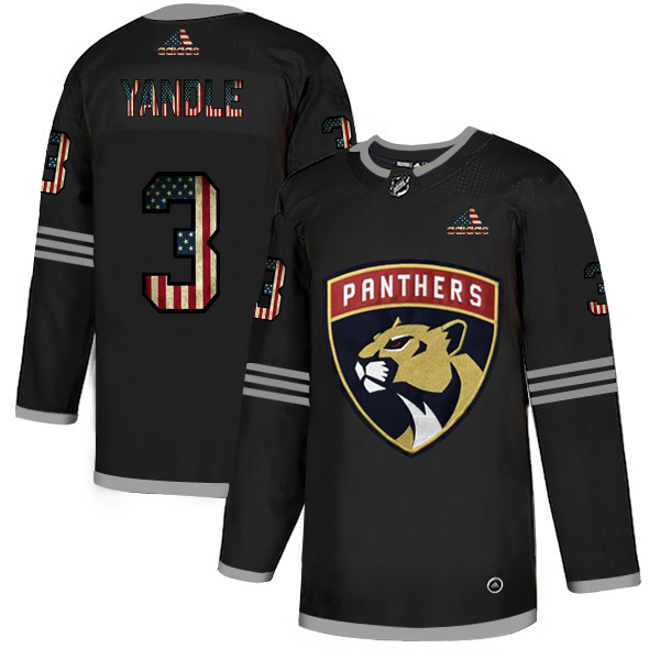 Cheap Florida Panthers 3 Keith Yandle Adidas Men Black USA Flag Limited NHL Jersey
