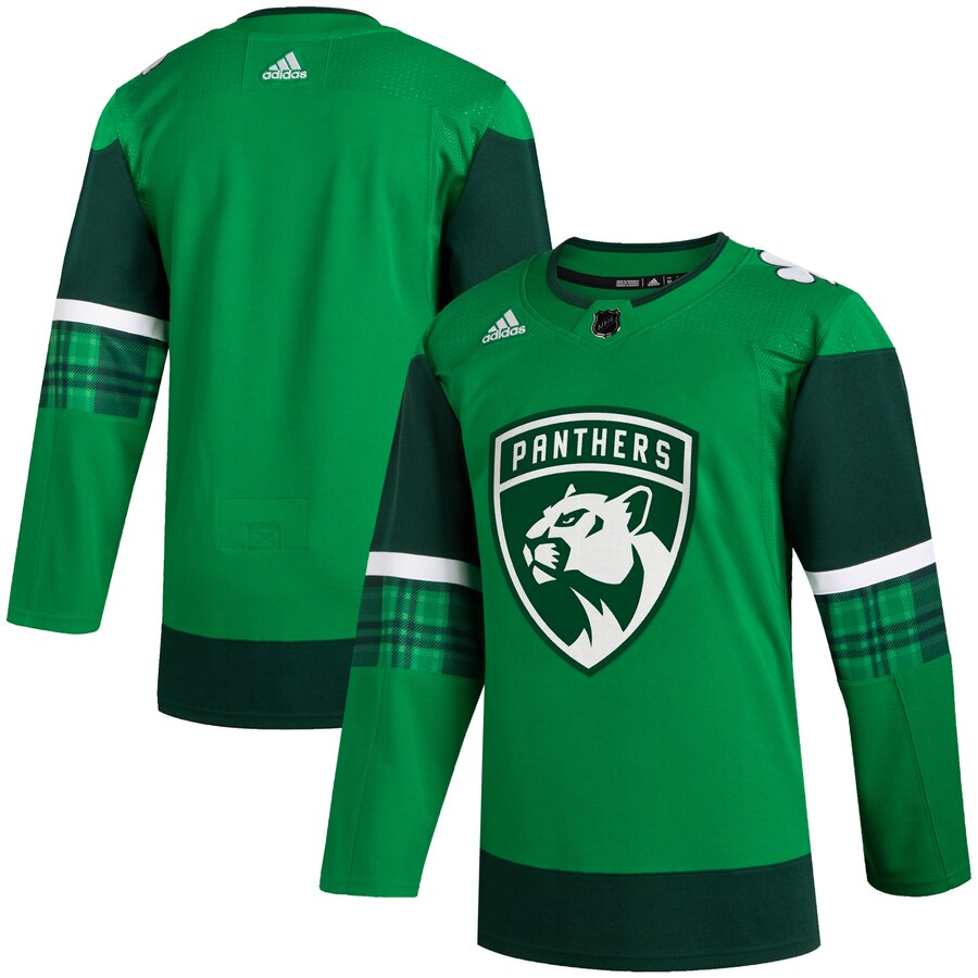 Cheap Florida Panthers Blank Men Adidas 2020 St. Patrick Day Stitched NHL Jersey Green