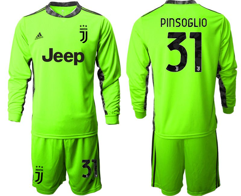 Cheap Men 2020-2021 club Juventus FC fluorescent green goalkeeper long sleeve 31 Soccer Jerseys
