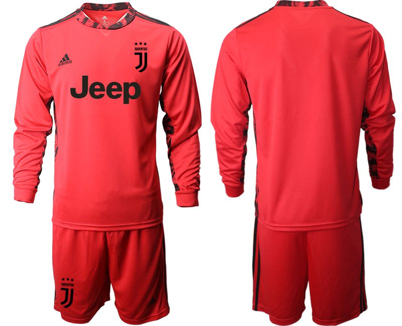 Cheap Men 2020-2021 club Juventus FC red goalkeeper long sleeve Soccer Jerseys