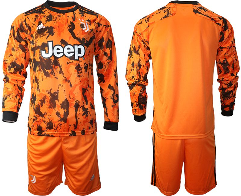 Wholesale Men 2020-2021 club Juventus away long sleeves orange Soccer Jerseys