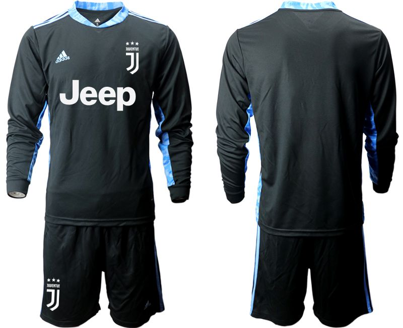 Cheap Men 2020-2021 club Juventus black long sleeve goalkeeper Soccer Jerseys