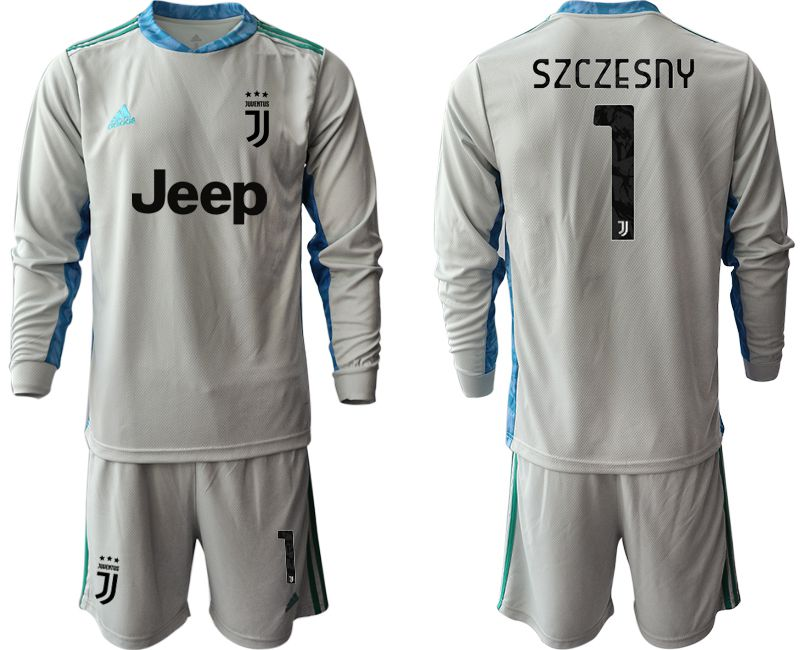 Cheap Men 2020-2021 club Juventus gray long sleeve goalkeeper 1 Soccer Jerseys