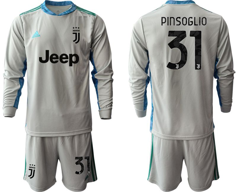 Cheap Men 2020-2021 club Juventus gray long sleeve goalkeeper 31 Soccer Jerseys