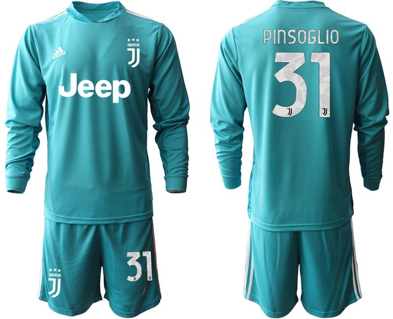 Cheap Men 2020-2021 club Juventus lake blue long sleeve goalkeeper 31 Soccer Jerseys