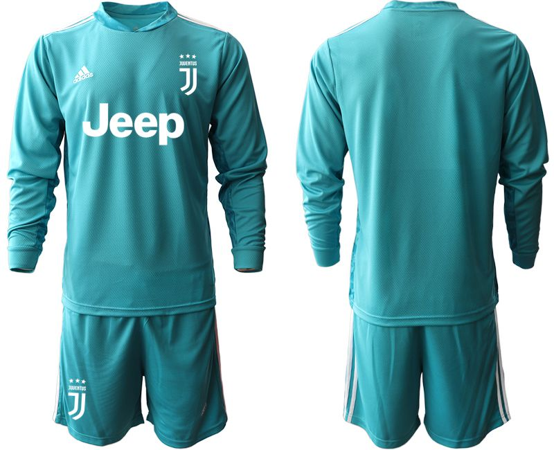 Cheap Men 2020-2021 club Juventus lake blue long sleeve goalkeeper Soccer Jerseys