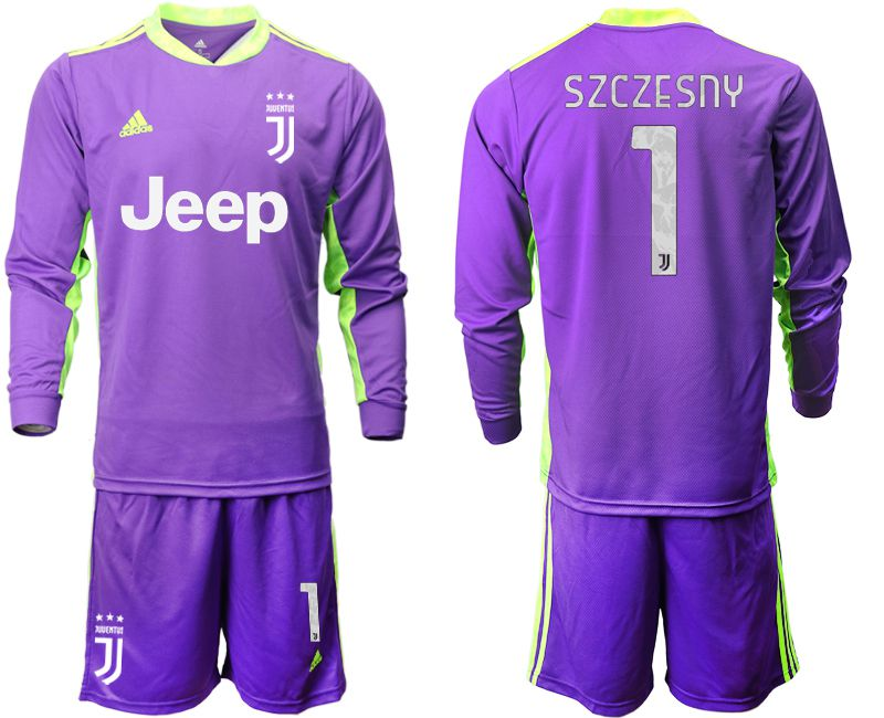 Cheap Men 2020-2021 club Juventus purple long sleeved Goalkeeper 1 Soccer Jersey