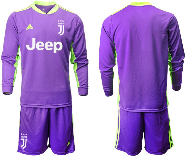 Cheap Men 2020-2021 club Juventus purple long sleeved Goalkeeper Soccer Jersey