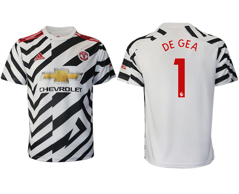 Cheap Men 2020-2021 club Manchester United away aaa version 1 white Soccer Jerseys