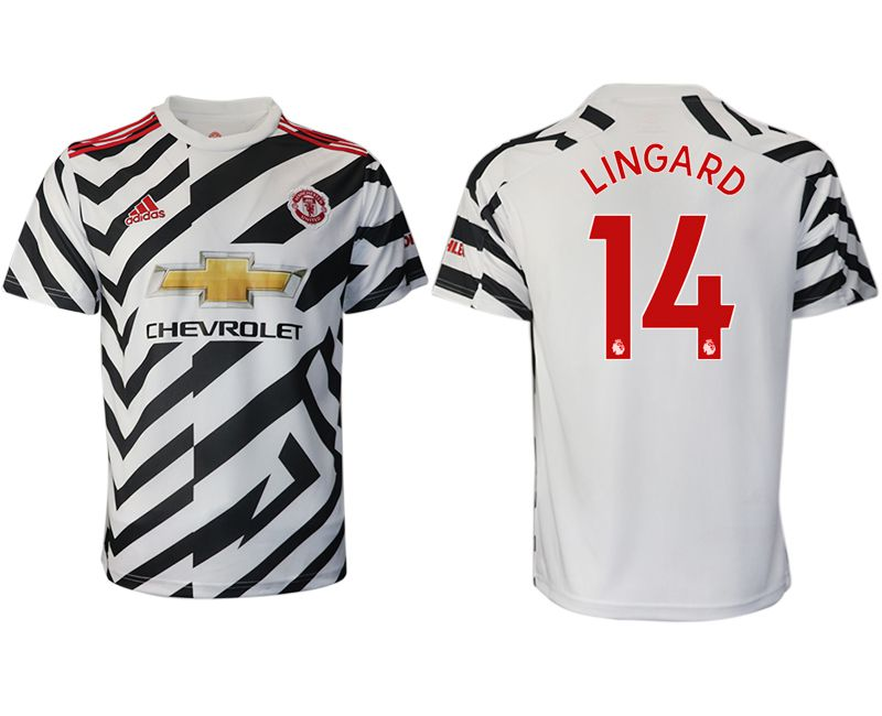 Cheap Men 2020-2021 club Manchester United away aaa version 14 white Soccer Jerseys