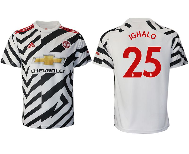 Cheap Men 2020-2021 club Manchester United away aaa version 25 white Soccer Jerseys