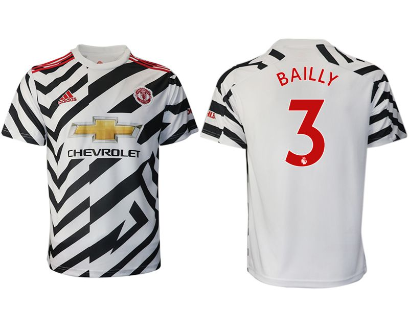 Cheap Men 2020-2021 club Manchester United away aaa version 3 white Soccer Jerseys