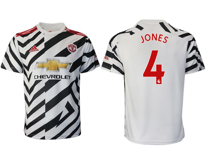 Cheap Men 2020-2021 club Manchester United away aaa version 4 white Soccer Jerseys