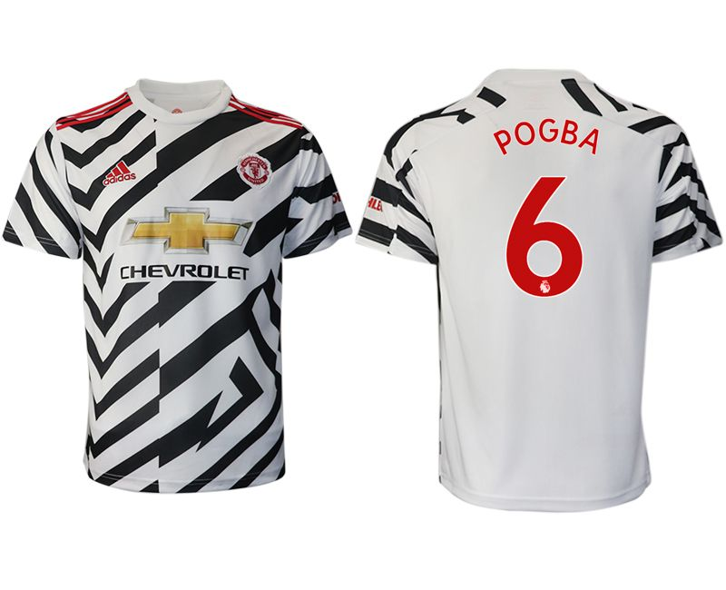 Cheap Men 2020-2021 club Manchester United away aaa version 6 white Soccer Jerseys