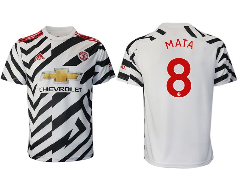 Cheap Men 2020-2021 club Manchester United away aaa version 8 white Soccer Jerseys