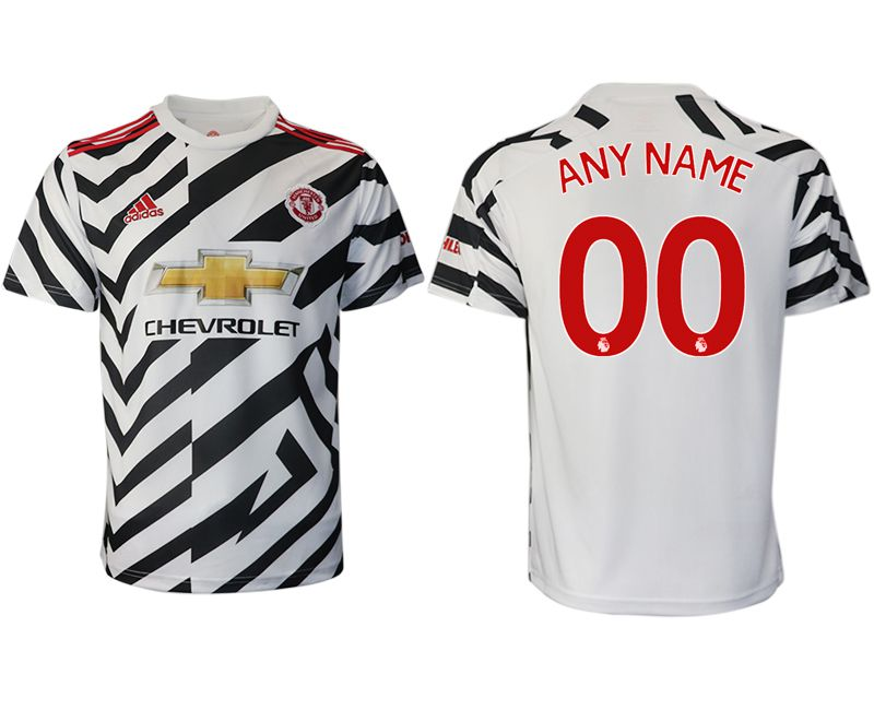 Cheap Men 2020-2021 club Manchester United away aaa version customized white Soccer Jerseys