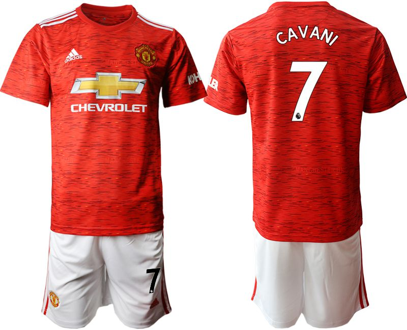 Cheap Men 2020-2021 club Manchester United home 7 red Soccer Jerseys