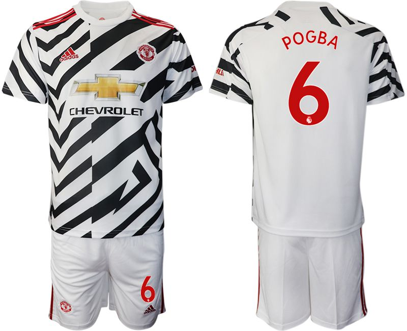 Wholesale Men 2020-2021 club Manchester united away 6 white Soccer Jerseys