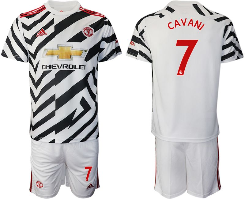 Cheap Men 2020-2021 club Manchester united away 7 white Soccer Jerseys1