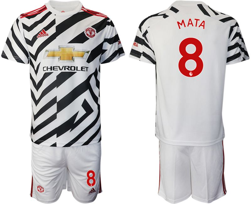Cheap Men 2020-2021 club Manchester united away 8 white Soccer Jerseys