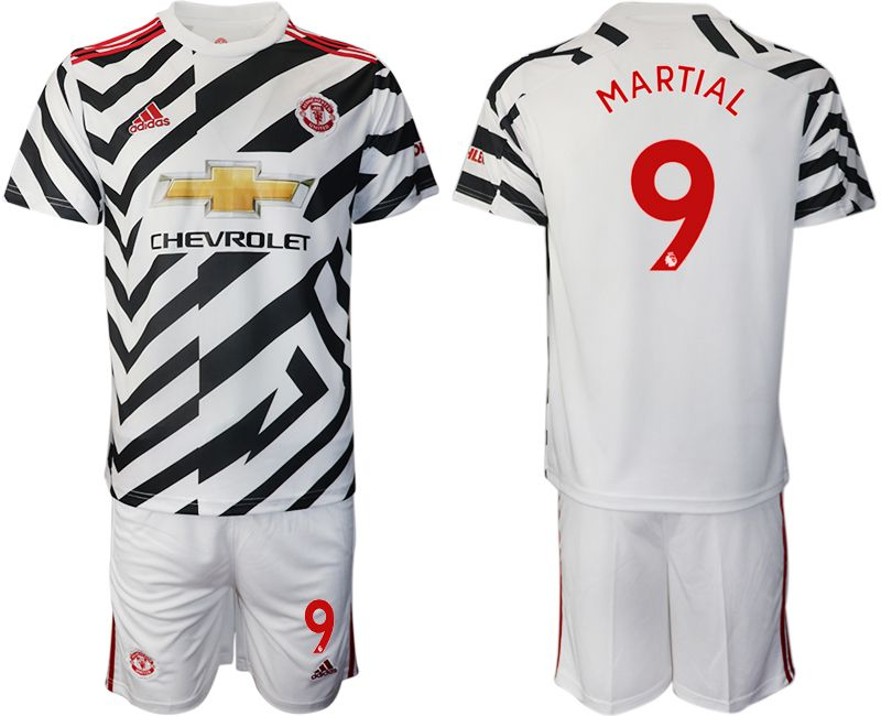 Cheap Men 2020-2021 club Manchester united away 9 white Soccer Jerseys