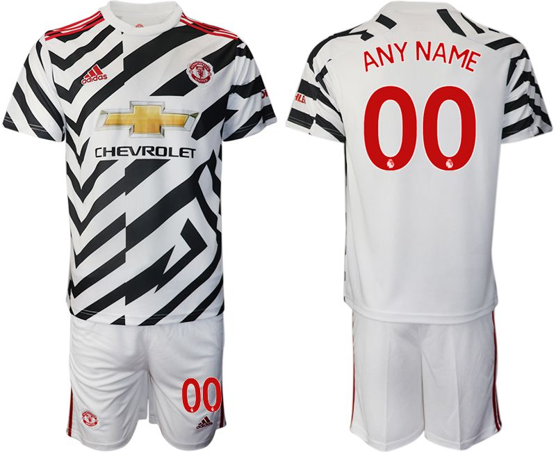 Cheap Men 2020-2021 club Manchester united away customized white Soccer Jerseys
