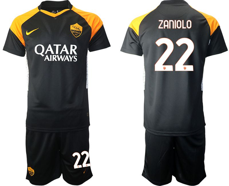 Cheap Men 2020-2021 club Rome away 22 black Soccer Jerseys