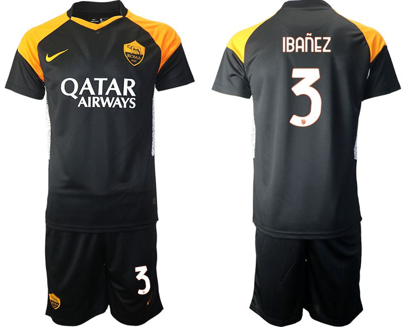 Cheap Men 2020-2021 club Rome away 3 black Soccer Jerseys