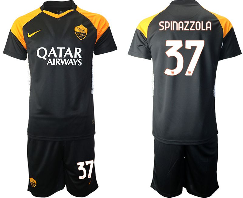 Cheap Men 2020-2021 club Rome away 37 black Soccer Jerseys