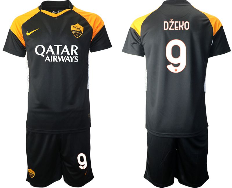 Cheap Men 2020-2021 club Rome away 9 black Soccer Jerseys