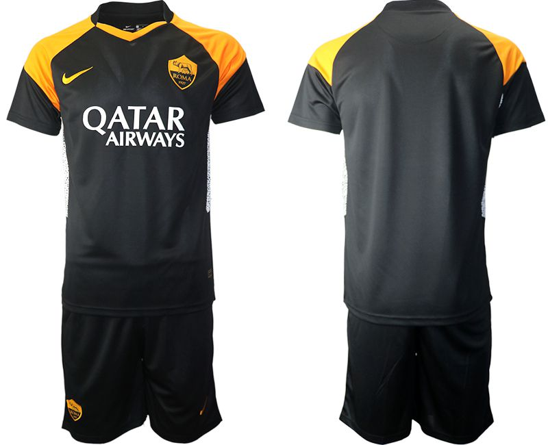Cheap Men 2020-2021 club Rome away black Soccer Jerseys