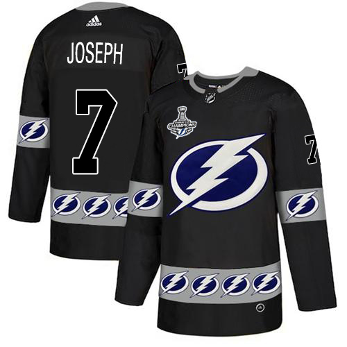 Cheap Men Adidas Tampa Bay Lightning 7 Mathieu Joseph Black Authentic Team Logo Fashion 2020 Stanley Cup Champions Stitched NHL Jersey