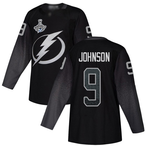 Cheap Men Adidas Tampa Bay Lightning 9 Tyler Johnson Black Alternate Authentic 2020 Stanley Cup Champions Stitched NHL Jersey