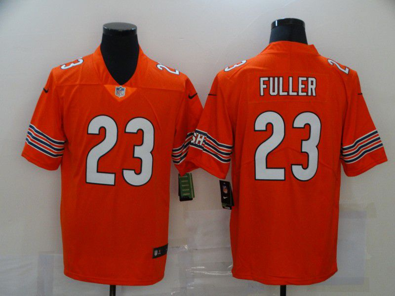 Cheap Men Chicago Bears 23 Fuller Orange Nike Vapor Untouchable Limited 2020 NFL Nike Jerseys