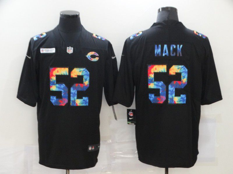 Cheap Men Chicago Bears 52 Mack Rainbow Edition black 2020 Nike NFL Jerseys