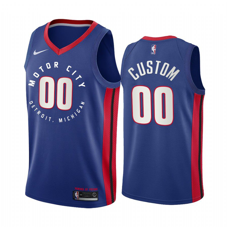 Wholesale Men Detroit Pistons 00 custom navy motor city edition 2020 nba jersey