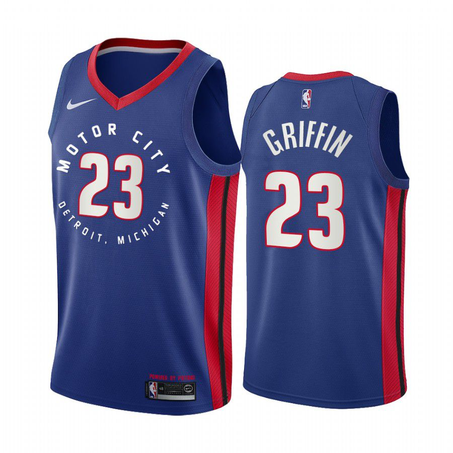 Wholesale Men Detroit Pistons 23 blake griffin navy motor city edition 2020 nba jersey