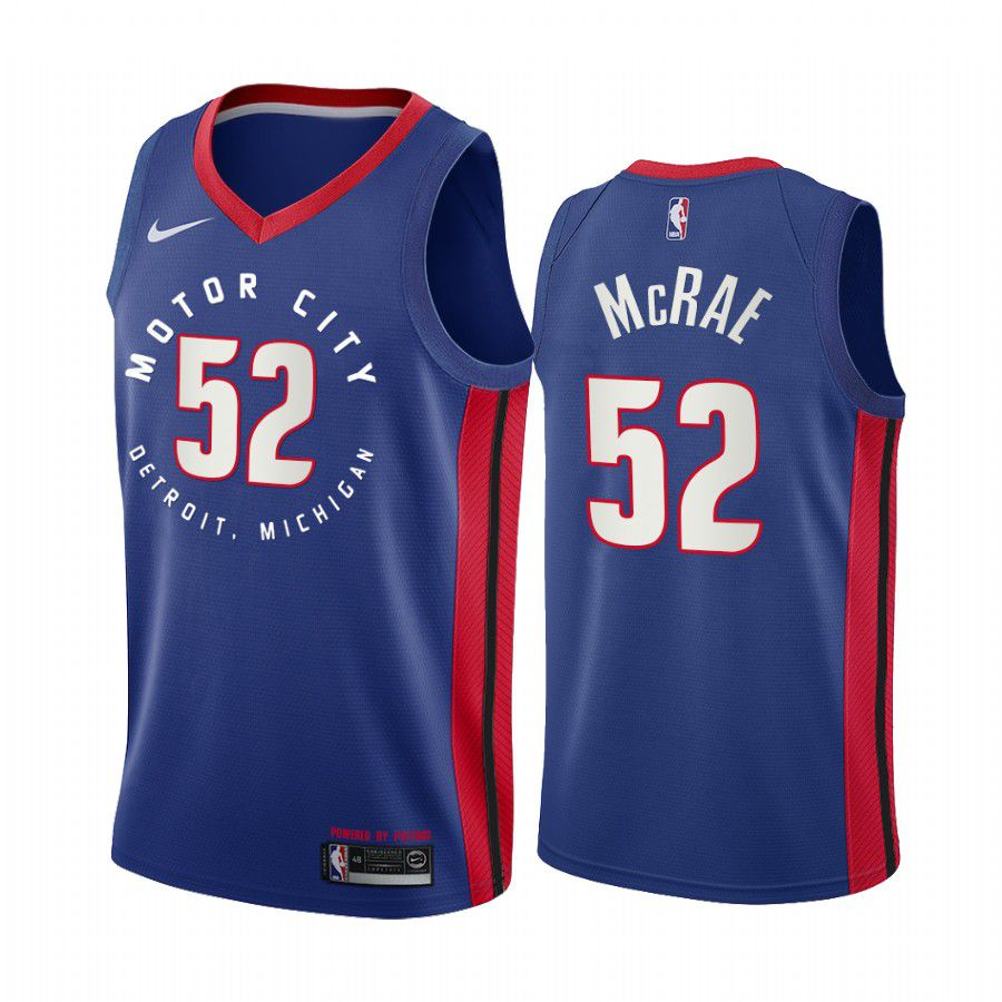 Wholesale Men Detroit Pistons 52 jordan mcrae navy motor city edition 2020 nba jersey