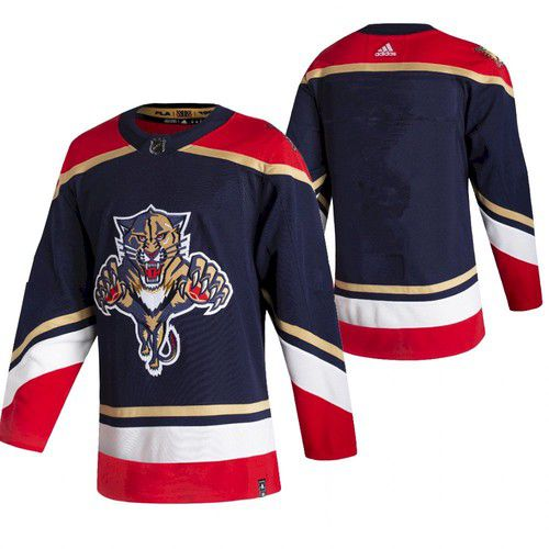 Cheap Men Florida Panthers Blank Blue NHL 2021 Reverse Retro jersey