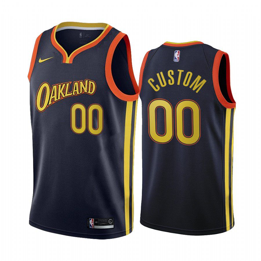 Wholesale Men Golden State Warriors 00 custom navy city edition oakland 2020 nba jersey