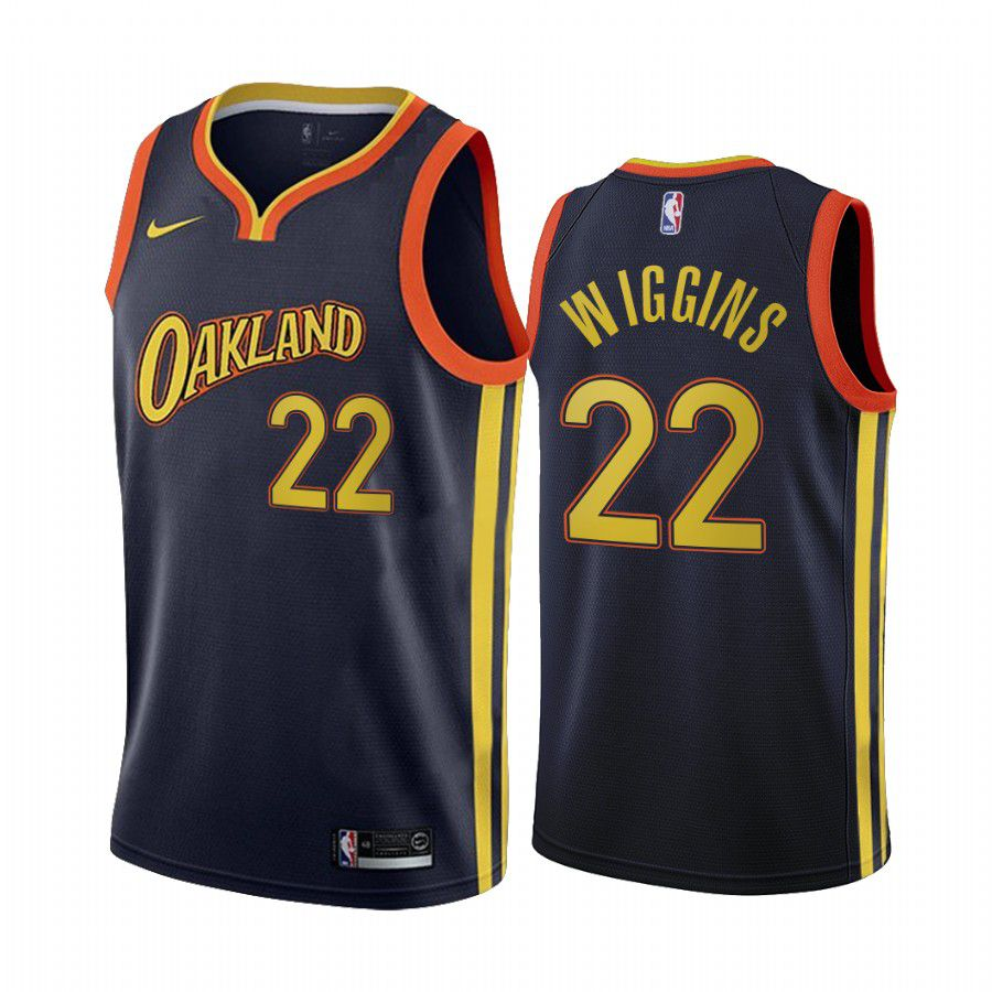 Wholesale Men Golden State Warriors 22 andrew wiggins navy city edition oakland 2020 nba jersey