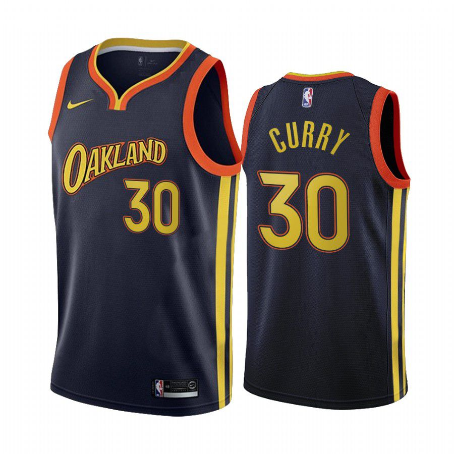 Wholesale Men Golden State Warriors 30 stephen curry navy city edition oakland 2020 nba jersey