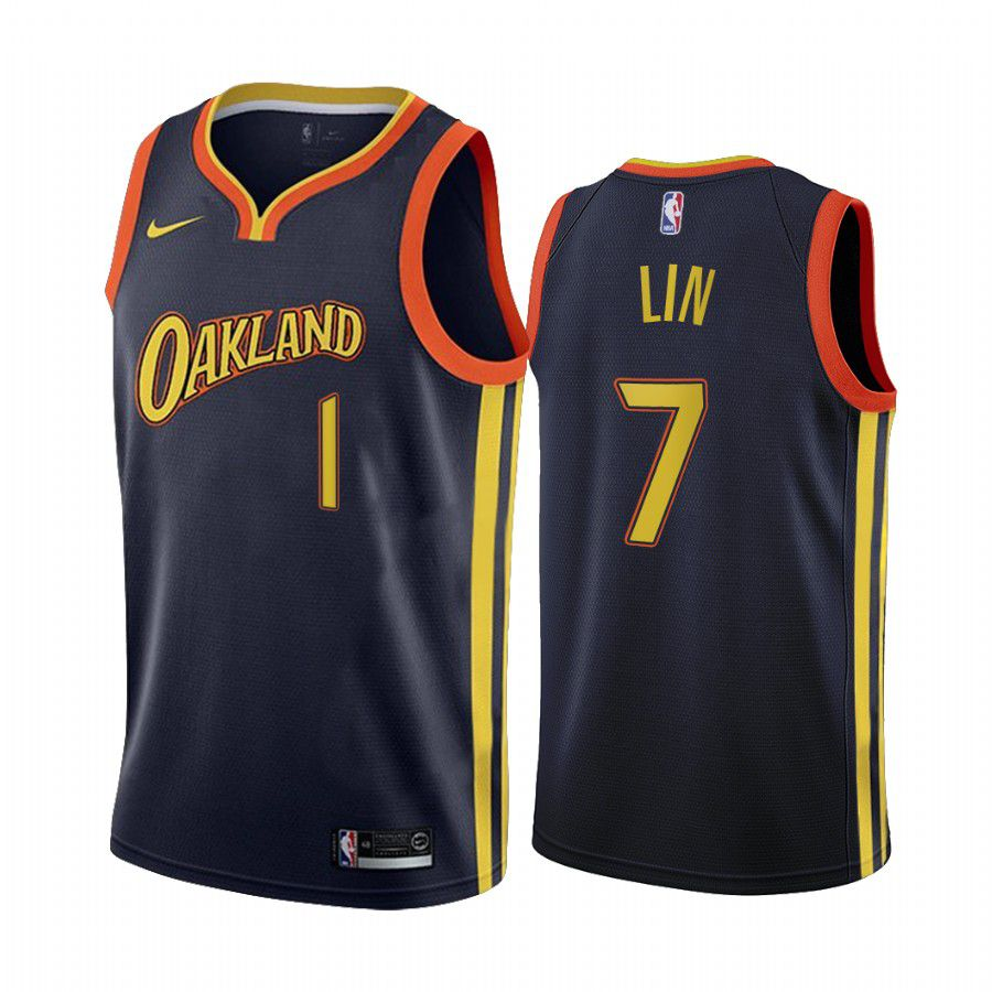 Wholesale Men Golden State Warriors 7 jeremy lin navy city edition oakland 2020 nba jersey