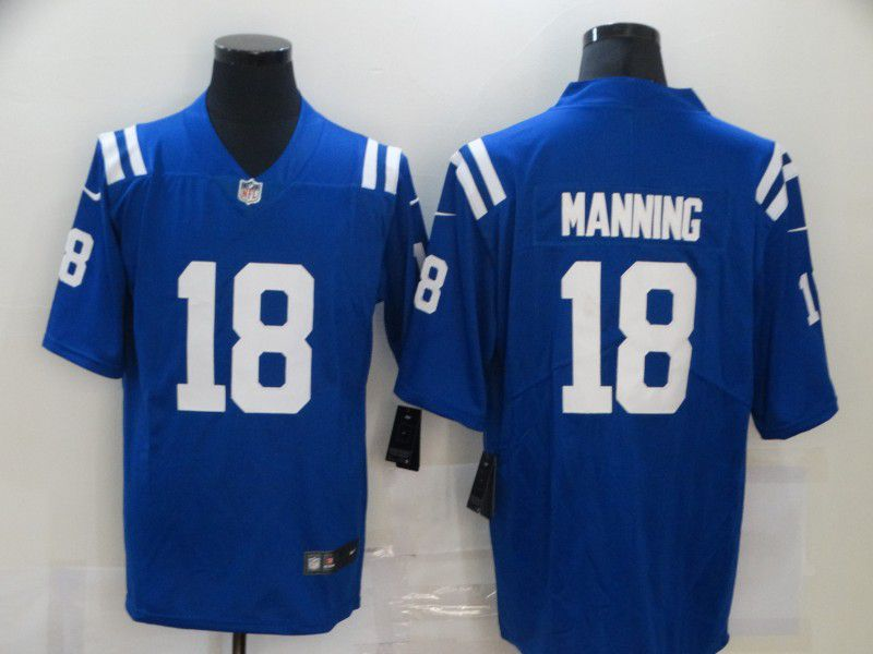 Cheap Men Indianapolis Colts 18 Manning Blue Nike Vapor Untouchable Limited 2020 NFL Nike Jerseys