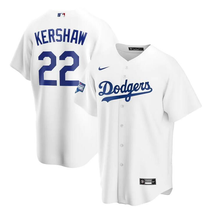 Wholesale Men Los Angeles Dodgers Clayton Kershaw Nike White 2020 World Series Champions Home Patch Replica Player MLB Jersey