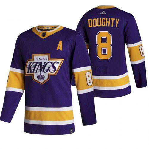 Men Los Angeles Kings 8 Doughty Purple NHL 2021 Reverse ...